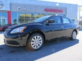 2014 Super Black Nissan Sentra S #90960673