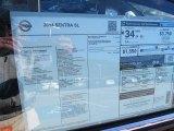 2014 Nissan Sentra SL Window Sticker