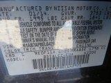 2014 Sentra Color Code for Amethyst Gray - Color Code: KBD