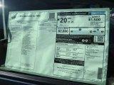 2014 Nissan Murano SL Window Sticker