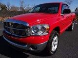 2007 Flame Red Dodge Ram 1500 SLT Quad Cab 4x4 #91005441