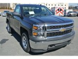 2014 Tungsten Metallic Chevrolet Silverado 1500 WT Regular Cab 4x4 #91005973