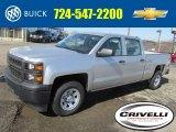 2014 Silver Ice Metallic Chevrolet Silverado 1500 WT Crew Cab 4x4 #91214395