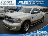 2012 Bright White Dodge Ram 1500 Laramie Longhorn Crew Cab 4x4 #91214442