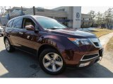 2011 Dark Cherry Pearl Acura MDX Technology #91256384