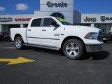 2014 Bright White Ram 1500 Big Horn Crew Cab 4x4 #91286034