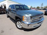 2013 Blue Granite Metallic Chevrolet Silverado 1500 LT Crew Cab #91286095