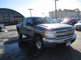 2012 Blue Granite Metallic Chevrolet Silverado 1500 LS Crew Cab 4x4 #91286133