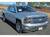 2014 Silver Ice Metallic Chevrolet Silverado 1500 LTZ Crew Cab #91286178