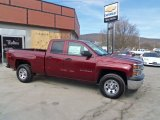 2014 Deep Ruby Metallic Chevrolet Silverado 1500 WT Double Cab 4x4 #91318774