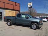 2014 Blue Granite Metallic Chevrolet Silverado 1500 WT Double Cab 4x4 #91318773