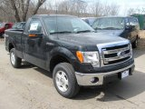 2014 Tuxedo Black Ford F150 XLT Regular Cab 4x4 #91319324