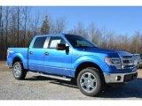 2014 Blue Flame Ford F150 XLT SuperCrew 4x4 #91318965