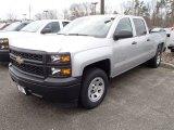2014 Silver Ice Metallic Chevrolet Silverado 1500 WT Crew Cab #91362707