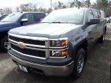 2014 Blue Granite Metallic Chevrolet Silverado 1500 WT Crew Cab 4x4 #91362702