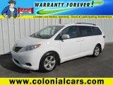 2011 Super White Toyota Sienna LE #91363307