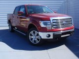 2014 Ruby Red Ford F150 Lariat SuperCrew 4x4 #91363034