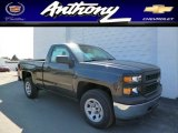 2014 Tungsten Metallic Chevrolet Silverado 1500 WT Regular Cab 4x4 #91363276