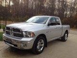 2010 Bright Silver Metallic Dodge Ram 1500 Big Horn Quad Cab 4x4 #91408405