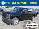 2014 Black Chevrolet Silverado 1500 WT Regular Cab 4x4 #91449387