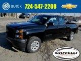 2014 Black Chevrolet Silverado 1500 WT Double Cab 4x4 #91449383
