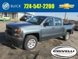 2014 Blue Granite Metallic Chevrolet Silverado 1500 WT Double Cab 4x4 #91449381