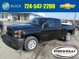 2014 Black Chevrolet Silverado 1500 WT Double Cab 4x4 #91449380