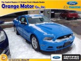 2013 Grabber Blue Ford Mustang V6 Premium Coupe #91449261