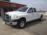 2008 Bright White Dodge Ram 1500 ST Quad Cab 4x4 #91518420