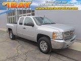 2012 Silver Ice Metallic Chevrolet Silverado 1500 LS Extended Cab 4x4 #91517998