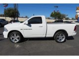 Bright White Dodge Ram 1500 in 2012