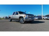 2013 Mocha Steel Metallic Chevrolet Silverado 1500 LT Crew Cab #91559218