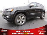 2014 Brilliant Black Crystal Pearl Jeep Grand Cherokee Overland 4x4 #91558962