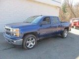 2014 Blue Topaz Metallic Chevrolet Silverado 1500 LT Crew Cab 4x4 #91558913