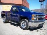 2014 Blue Topaz Metallic Chevrolet Silverado 1500 WT Regular Cab 4x4 #91558836