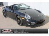 2012 Basalt Black Metallic Porsche 911 Turbo S Cabriolet #91559081