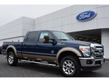 2014 Blue Jeans Metallic Ford F250 Super Duty Lariat Crew Cab 4x4 #91598859