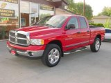 2002 Flame Red Dodge Ram 1500 SLT Plus Quad Cab 4x4 #9112539