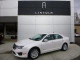 2010 White Platinum Tri-coat Metallic Ford Fusion Hybrid #91598849