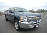 2013 Blue Granite Metallic Chevrolet Silverado 1500 LT Crew Cab #91599085