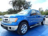 2014 Blue Flame Ford F150 XLT SuperCrew #91642894