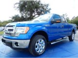 2014 Blue Flame Ford F150 XLT SuperCab #91642893