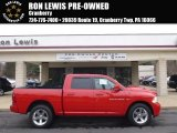 2012 Flame Red Dodge Ram 1500 Sport Crew Cab 4x4 #91704076