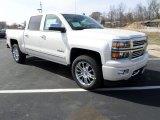 2014 White Diamond Tricoat Chevrolet Silverado 1500 High Country Crew Cab 4x4 #91703951