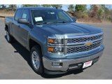 2014 Blue Granite Metallic Chevrolet Silverado 1500 LT Crew Cab #91704440