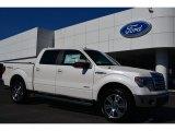 2014 White Platinum Ford F150 Lariat SuperCrew 4x4 #91776673