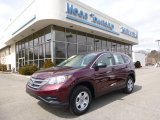 2012 Basque Red Pearl II Honda CR-V LX 4WD #91776716