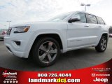 2014 Bright White Jeep Grand Cherokee Overland #91893365
