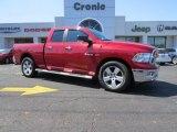 2010 Inferno Red Crystal Pearl Dodge Ram 1500 Big Horn Quad Cab #91893495
