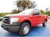 2014 Vermillion Red Ford F150 XL Regular Cab #91942813